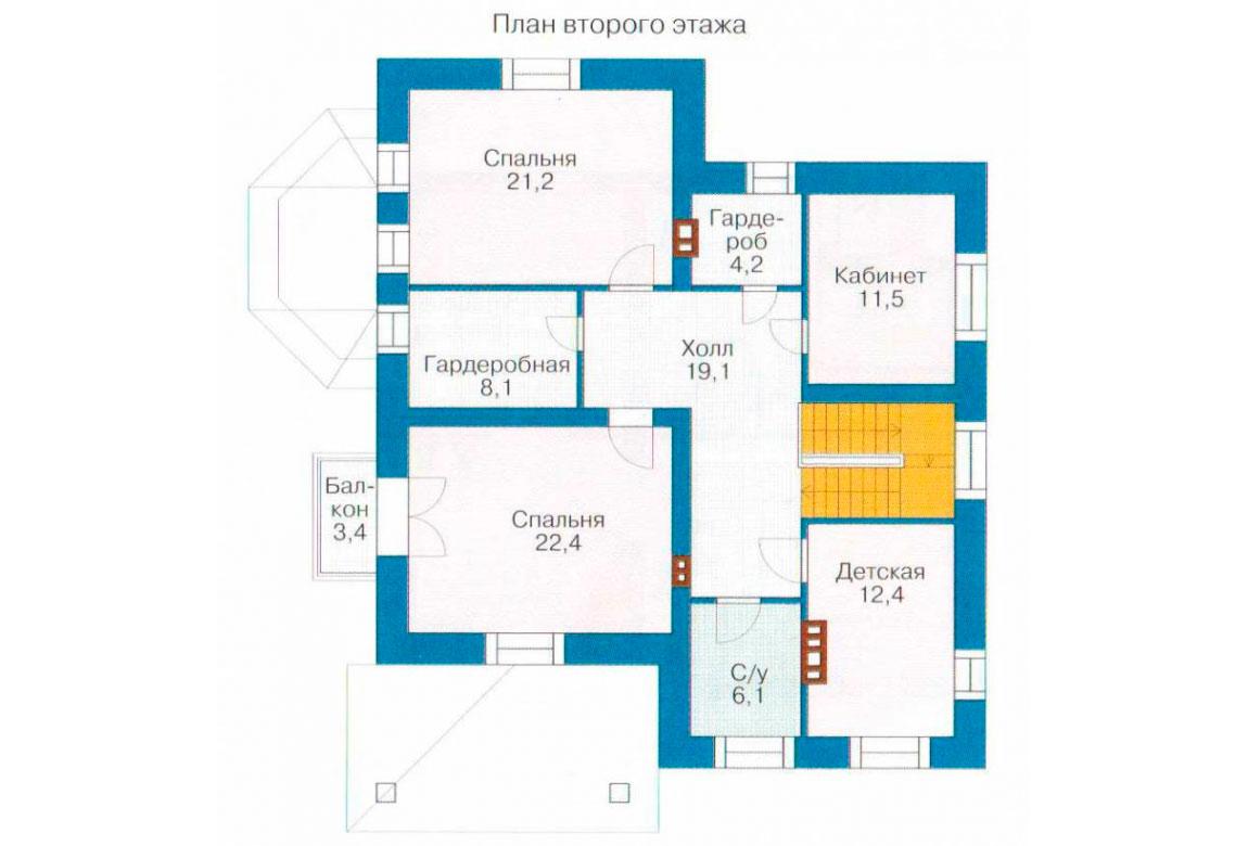 План N2 проекта кирпичного дома АСД-1030