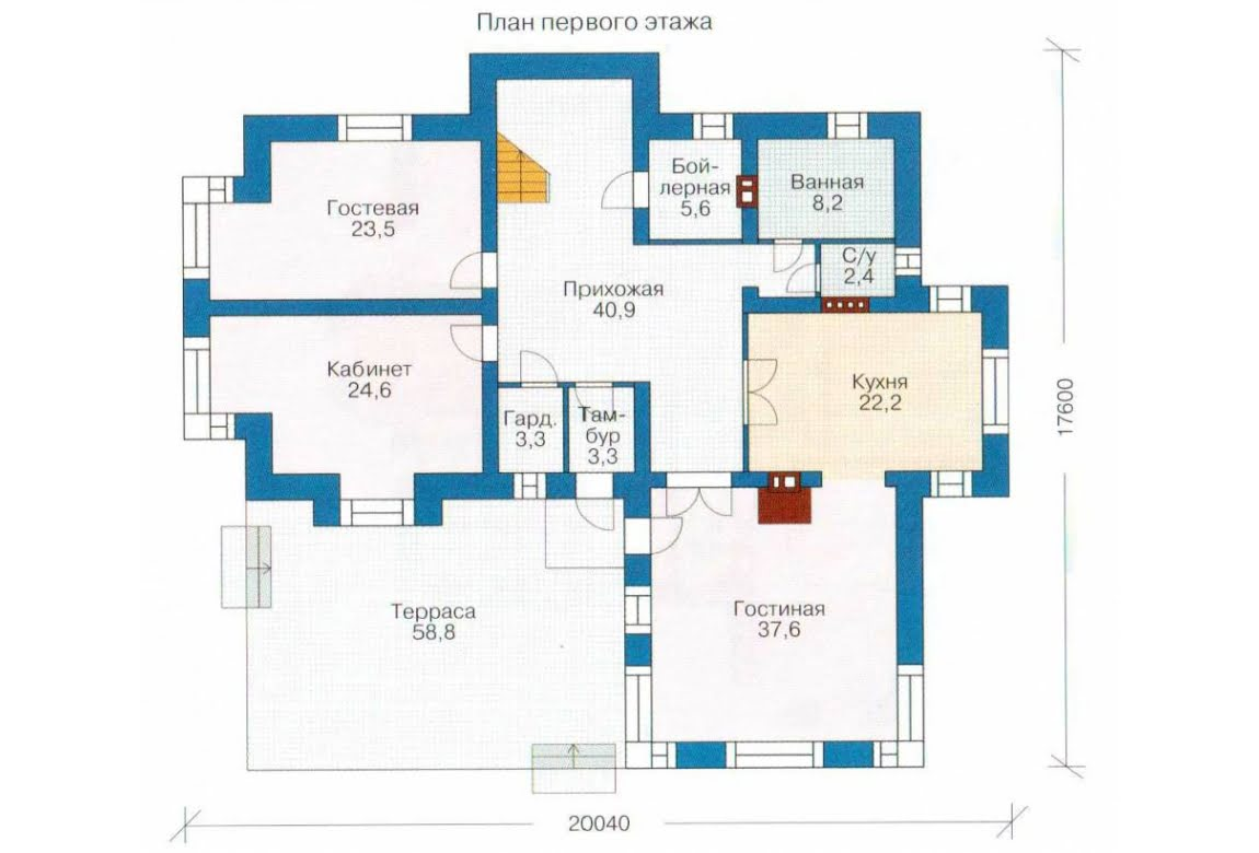 План N1 проекта дома из СИП-панелей АСД-1301