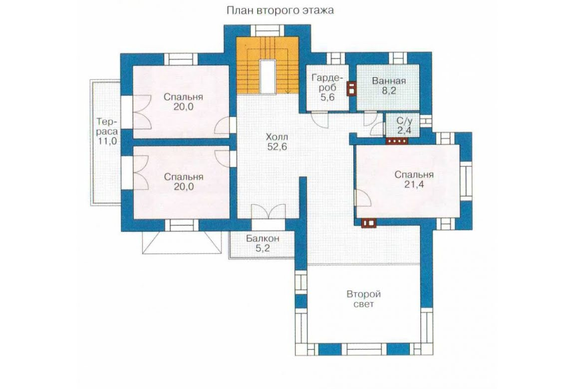 План N2 проекта дома из СИП-панелей АСД-1301