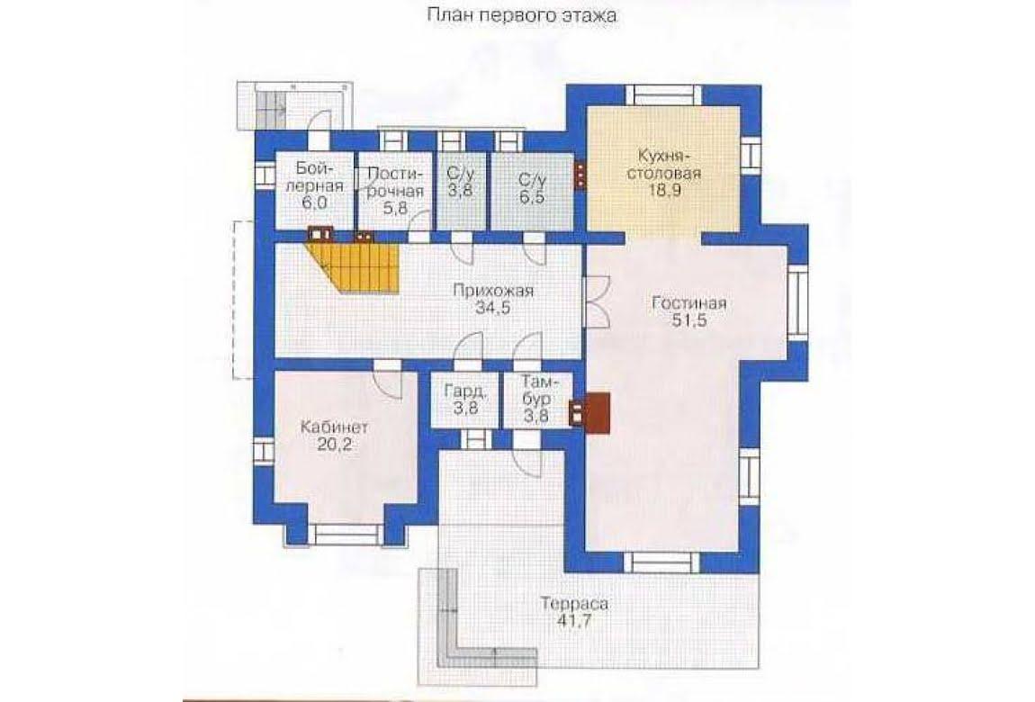 План N1 проекта дома из СИП-панелей АСД-1302