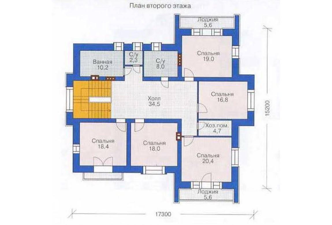 План N2 проекта дома из СИП-панелей АСД-1302