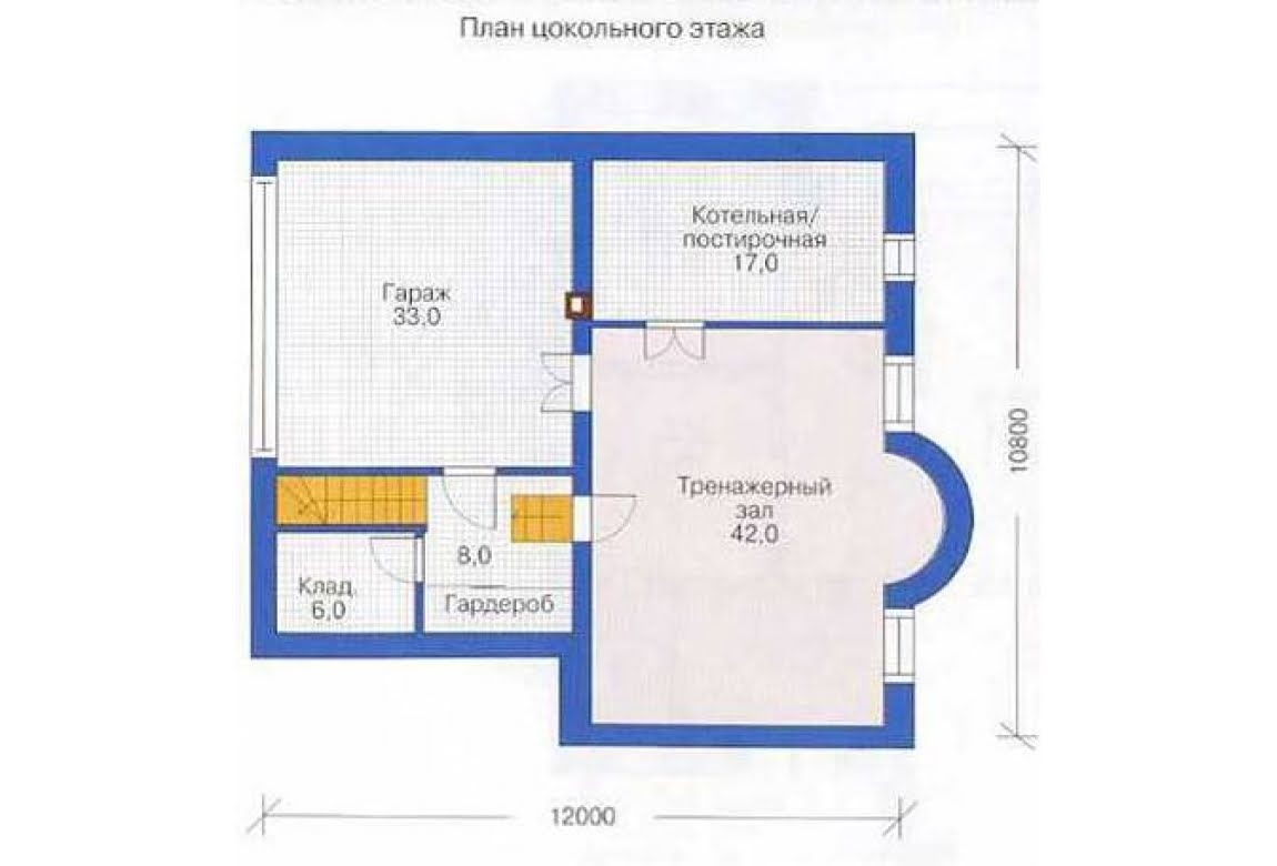 План N1 проекта дома из СИП-панелей АСД-1303