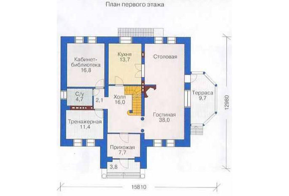 План N2 проекта дома из СИП-панелей АСД-1304