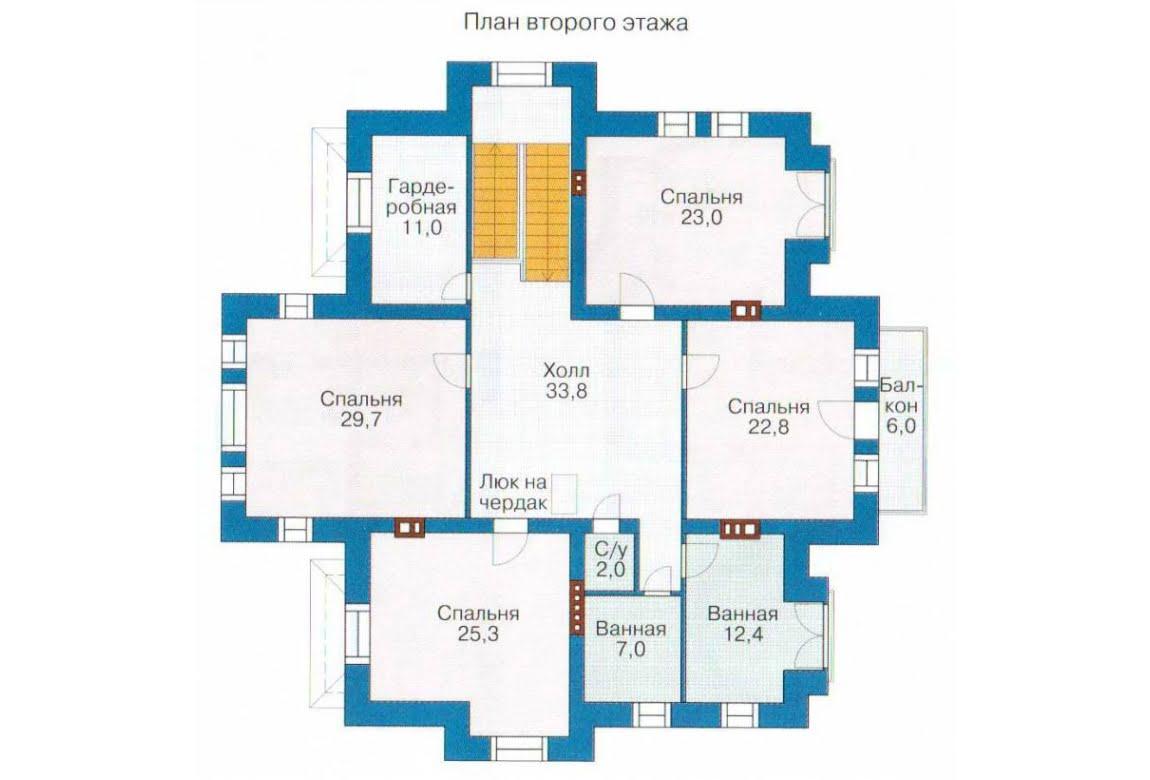 План N1 проекта дома из СИП-панелей АСД-1305