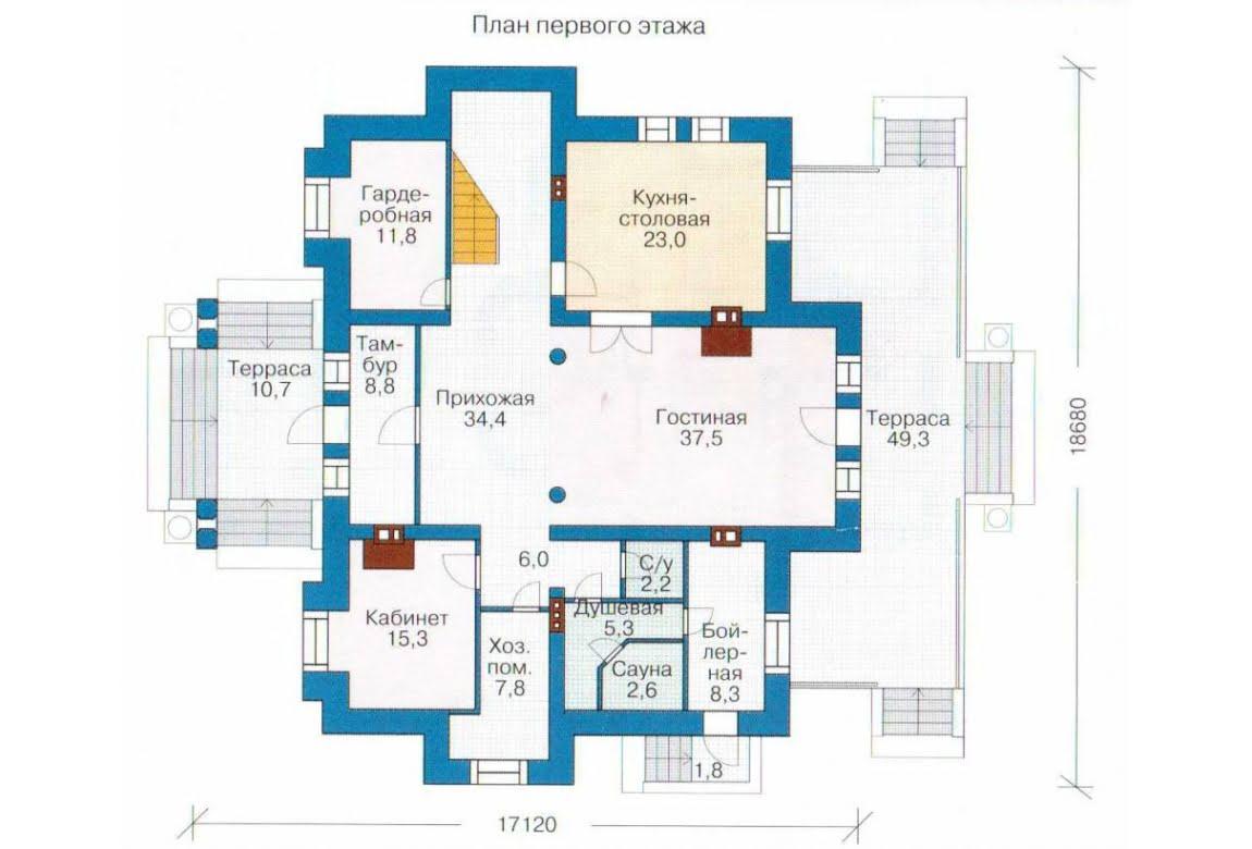 План N2 проекта дома из СИП-панелей АСД-1305