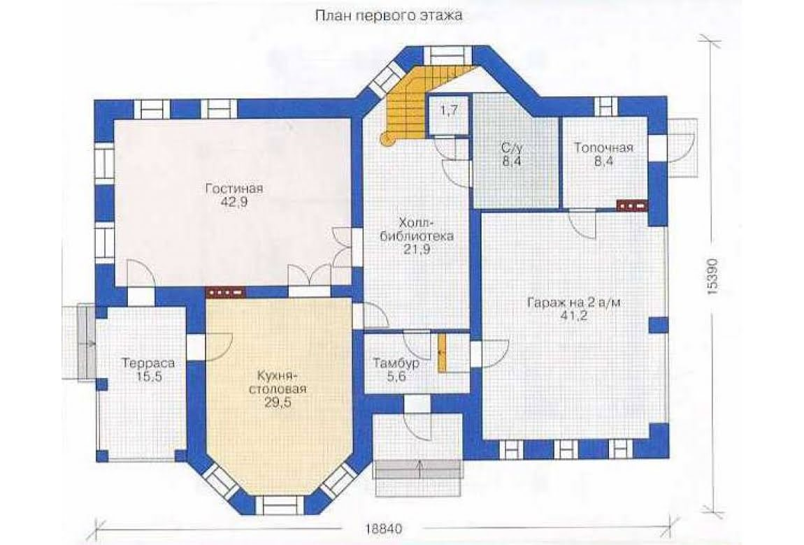 План N1 проекта дома из СИП-панелей АСД-1306