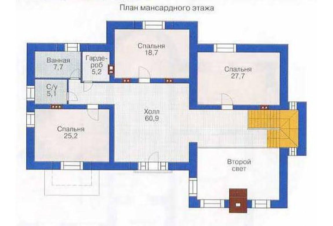 План N1 проекта дома из СИП-панелей АСД-1307