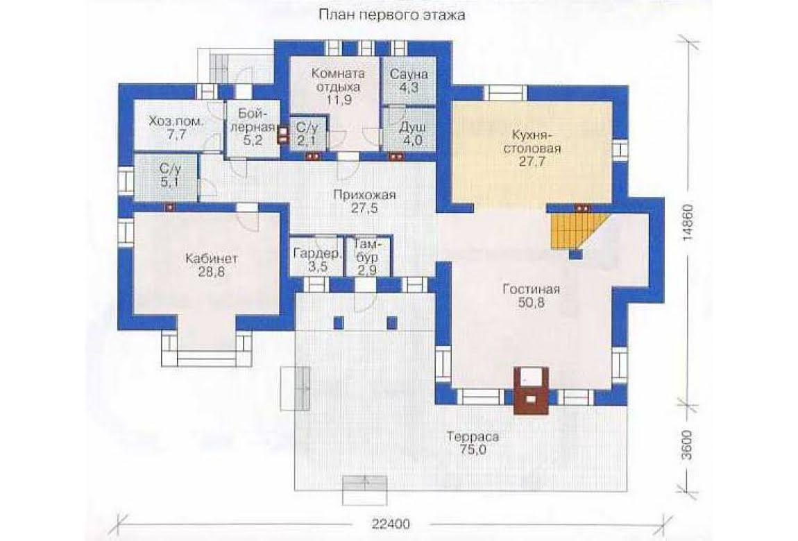 План N2 проекта дома из СИП-панелей АСД-1307