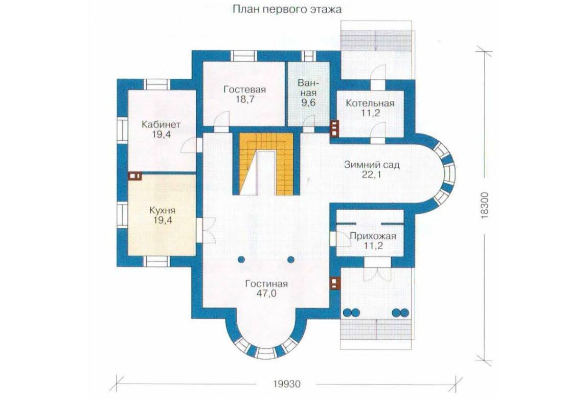 План N2 проекта дома из СИП-панелей АСД-1308