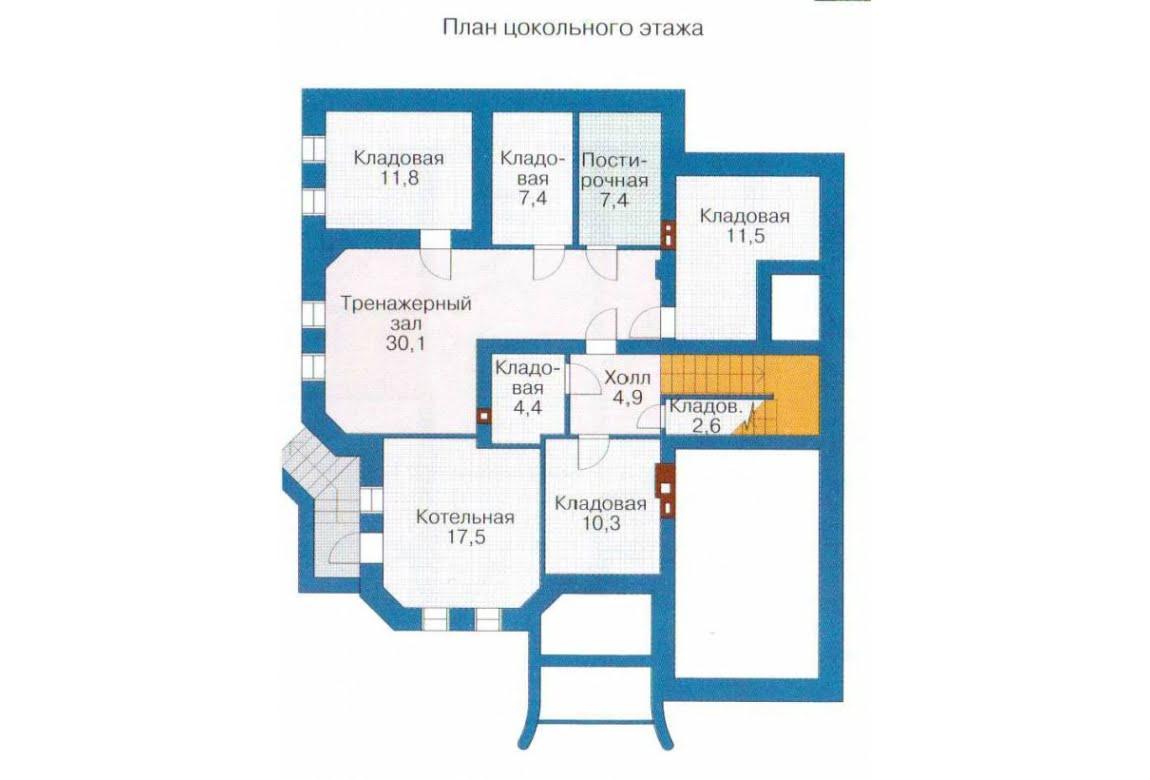 План N1 проекта дома из СИП-панелей АСД-1309