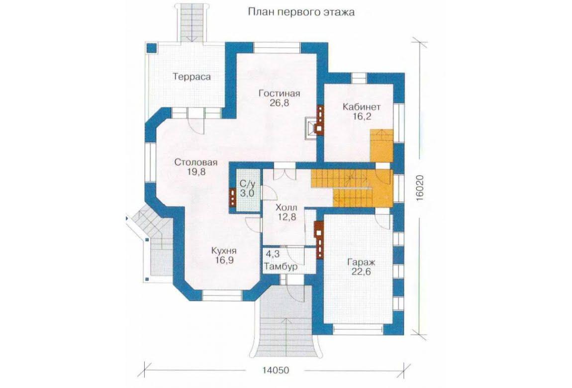 План N2 проекта дома из СИП-панелей АСД-1309