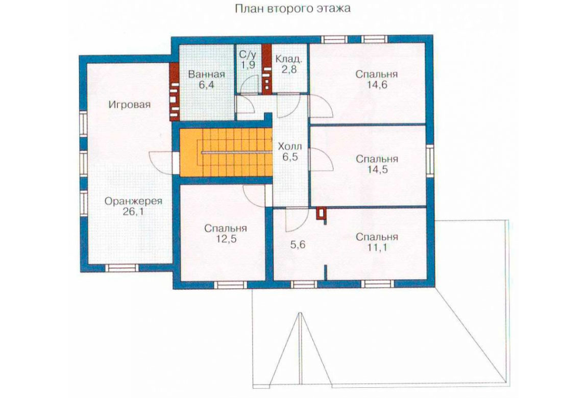 План N1 проекта кирпичного дома АСД-1031