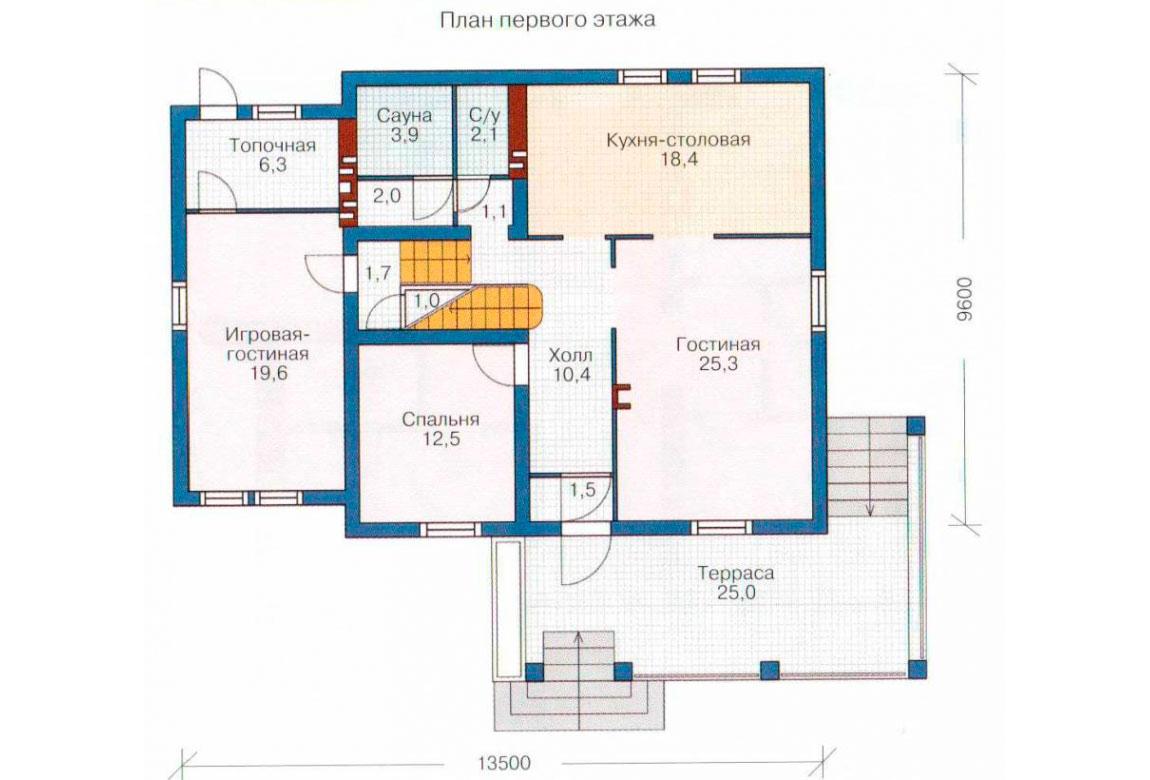 План N2 проекта кирпичного дома АСД-1031