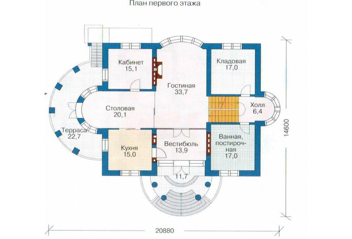 План N2 проекта дома из СИП-панелей АСД-1310