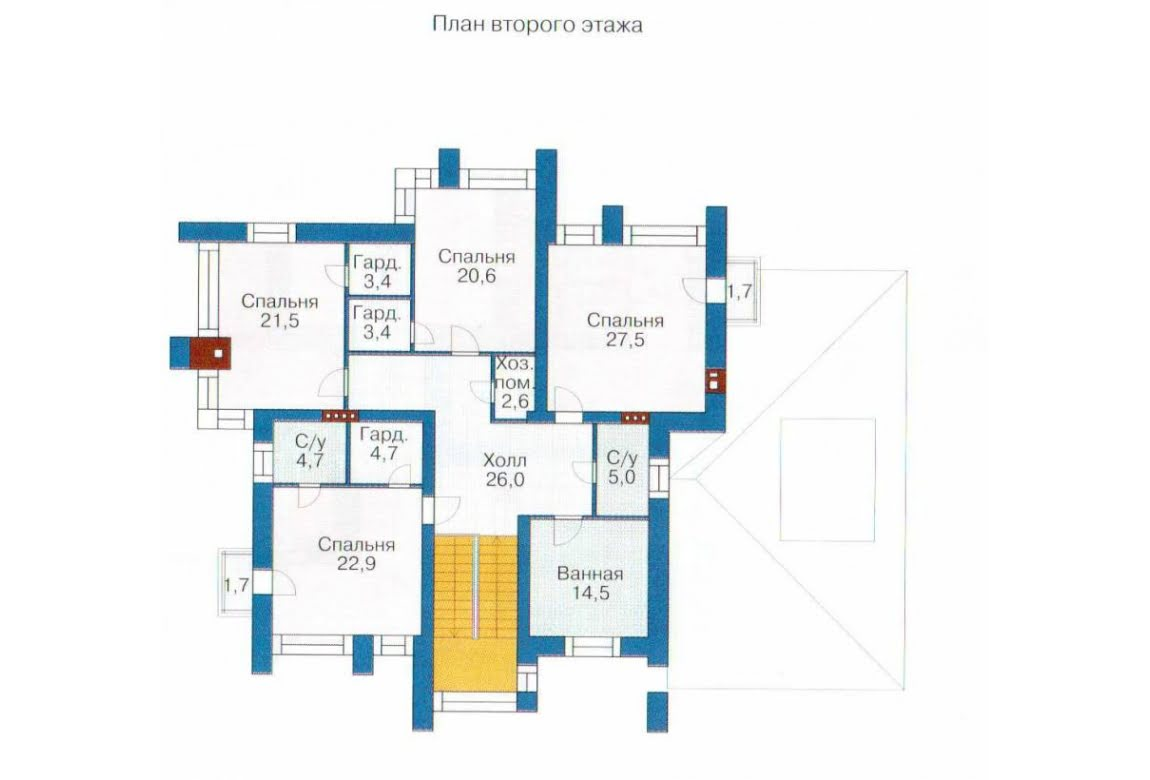 План N1 проекта дома из СИП-панелей АСД-1311
