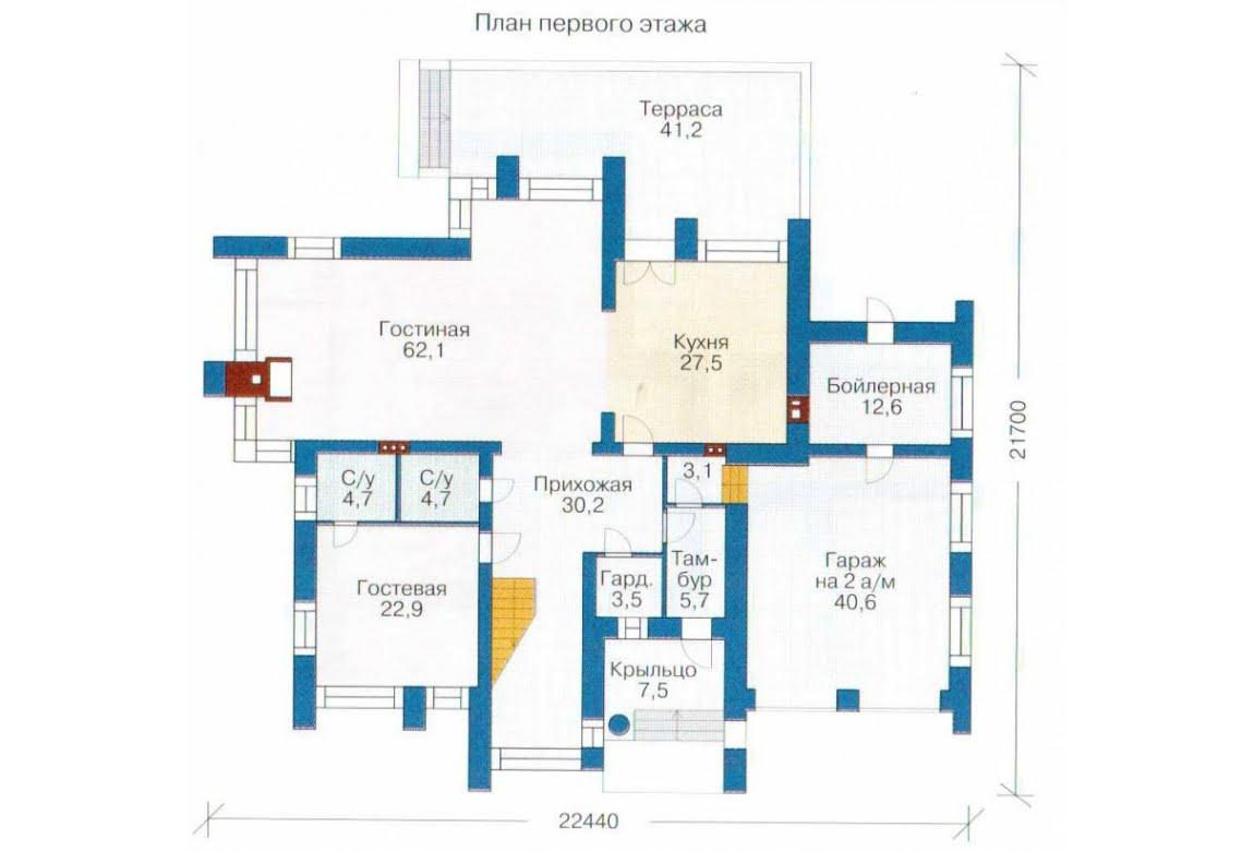 План N2 проекта дома из СИП-панелей АСД-1311