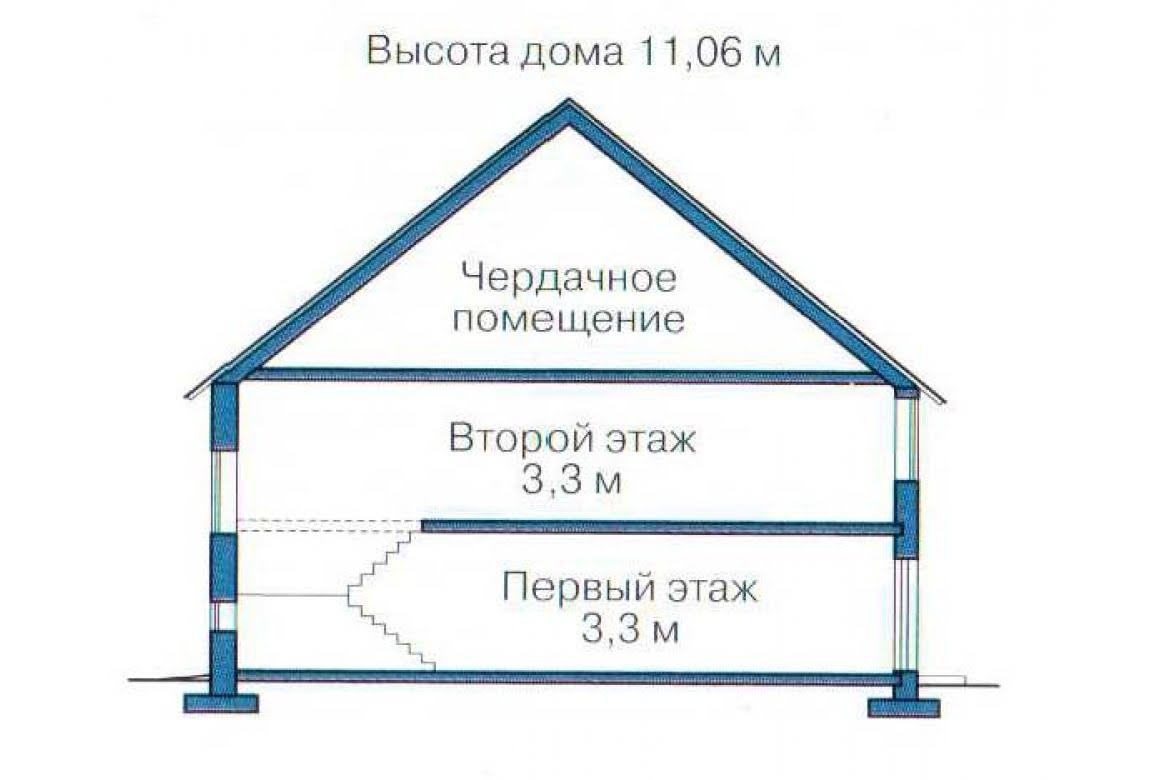 План N3 проекта дома из СИП-панелей АСД-1311