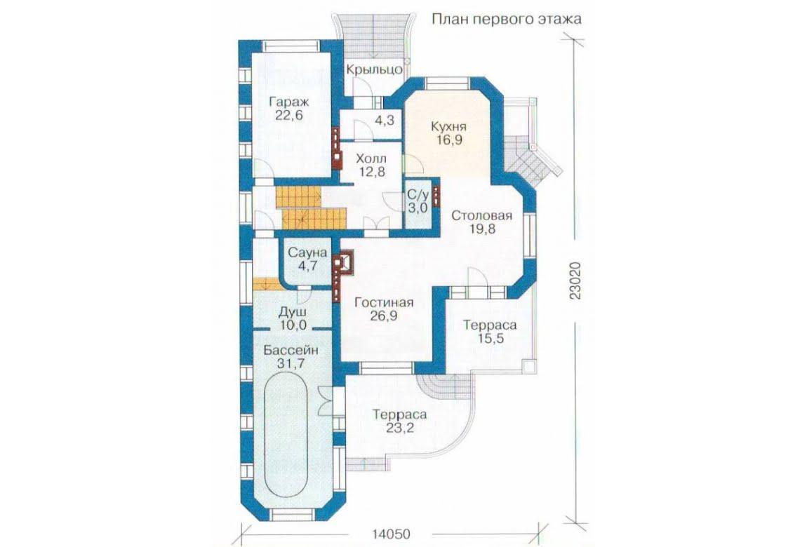 План N2 проекта дома из СИП-панелей АСД-1312