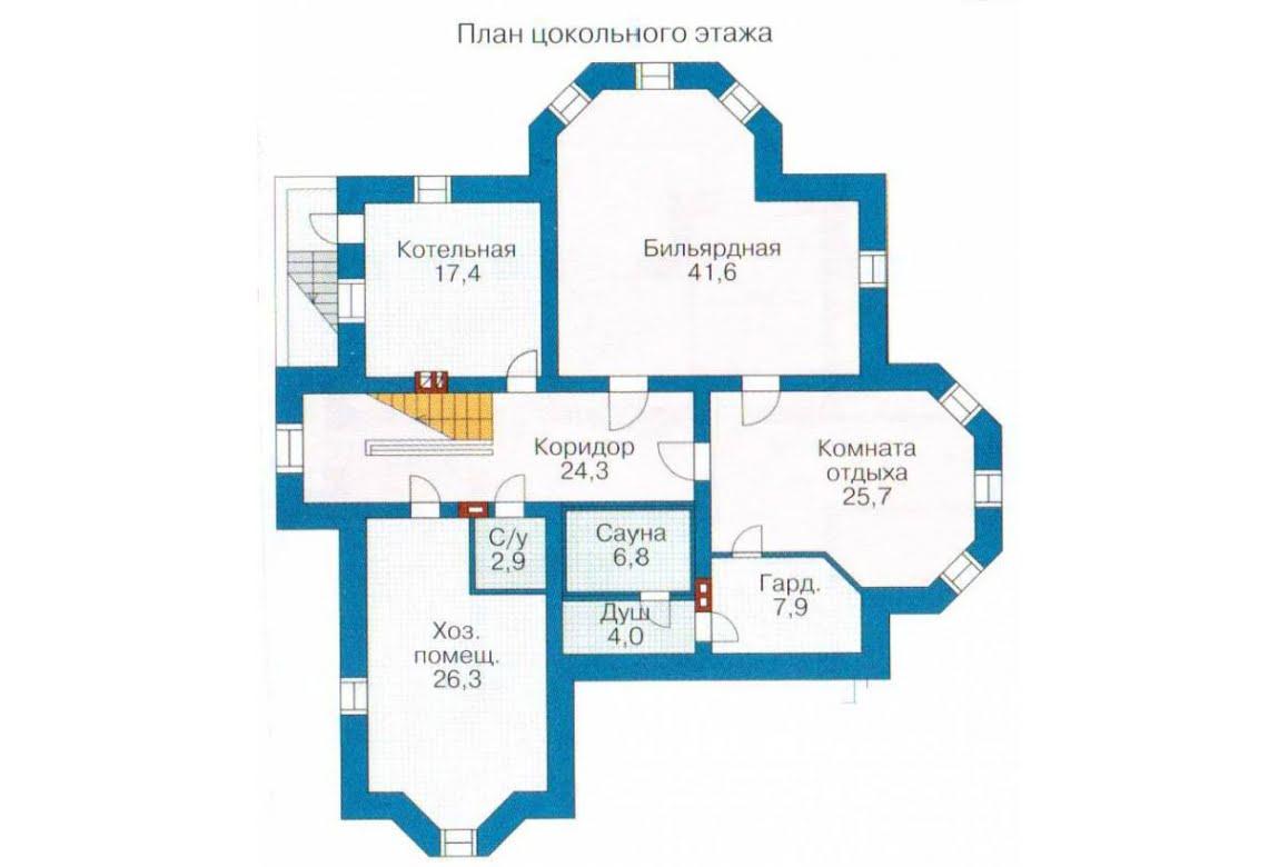 План N1 проекта ВИП дома АСД-1315