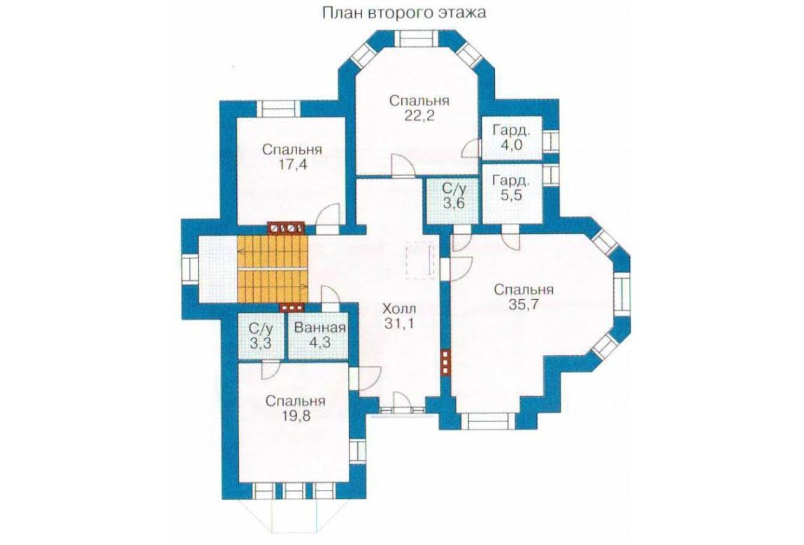 План N3 проекта ВИП дома АСД-1315