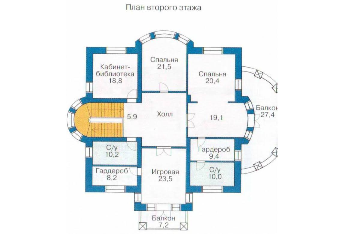 План N1 проекта ВИП дома АСД-1319