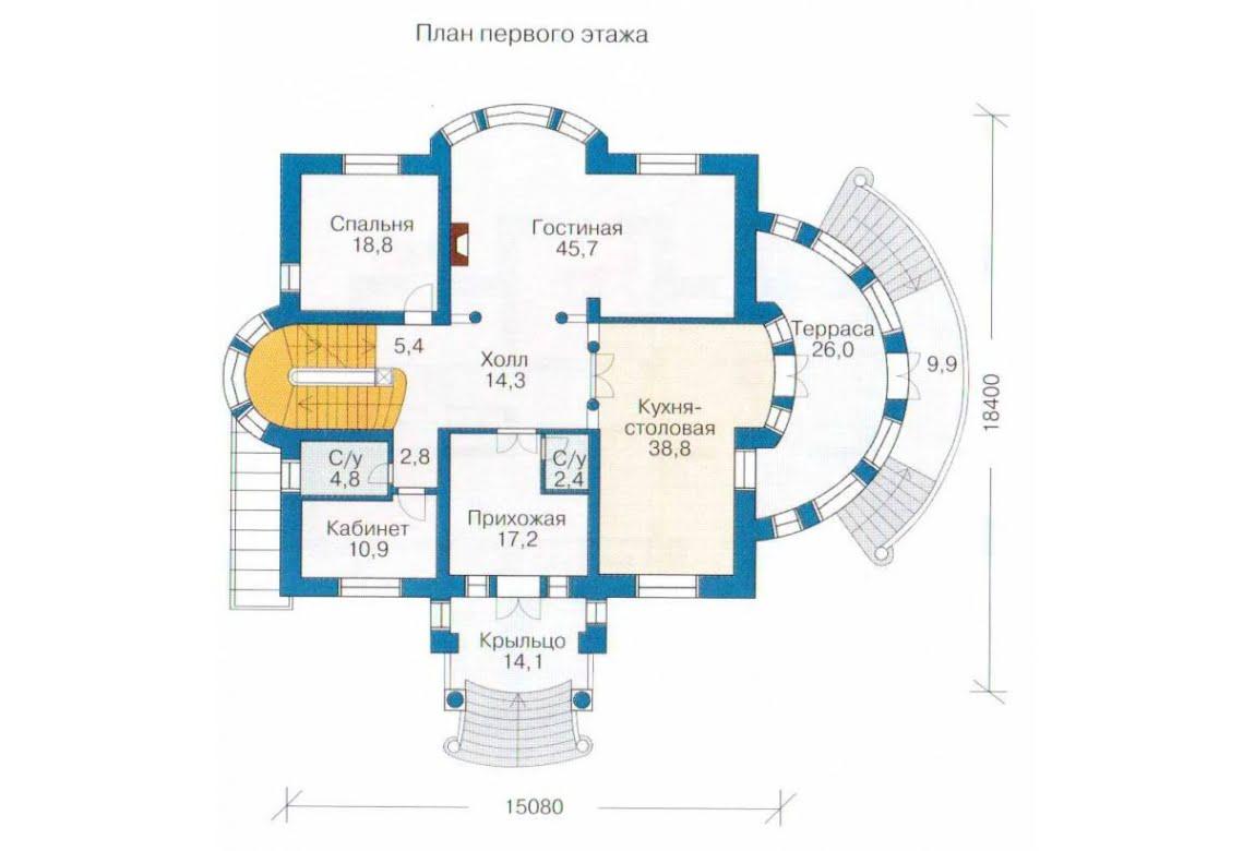 План N2 проекта ВИП дома АСД-1319