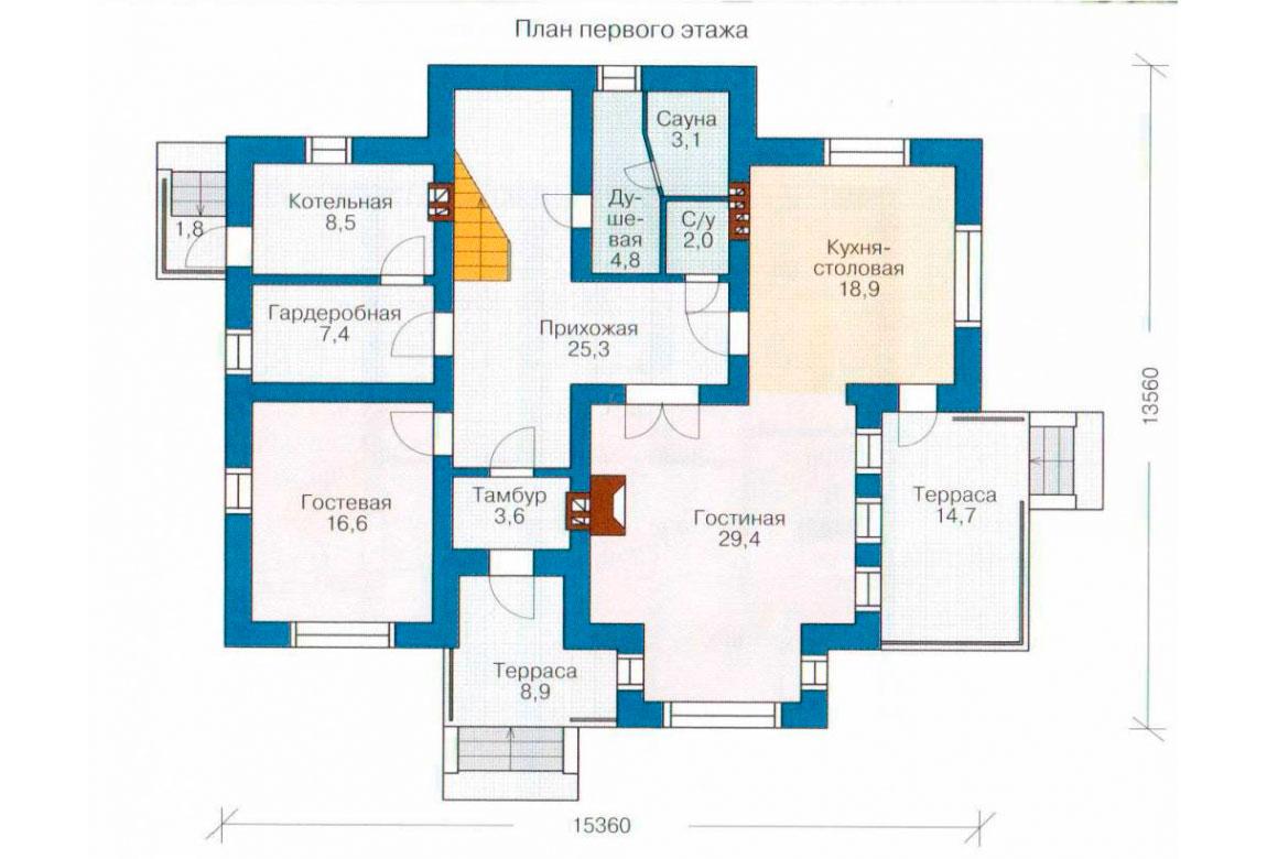 План N2 проекта кирпичного дома АСД-1032