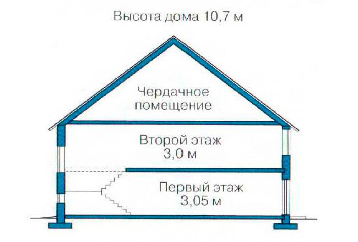 План N3 проекта кирпичного дома АСД-1032