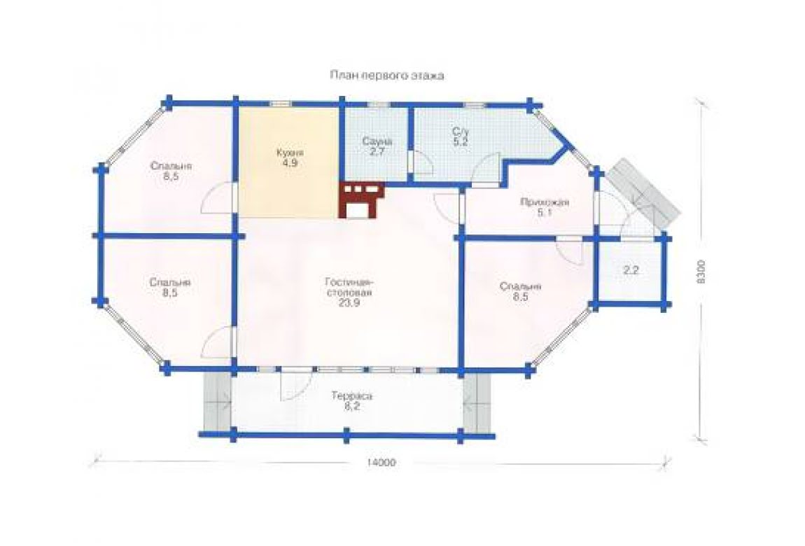 План N1 проекта недорогого дома АСД-1321
