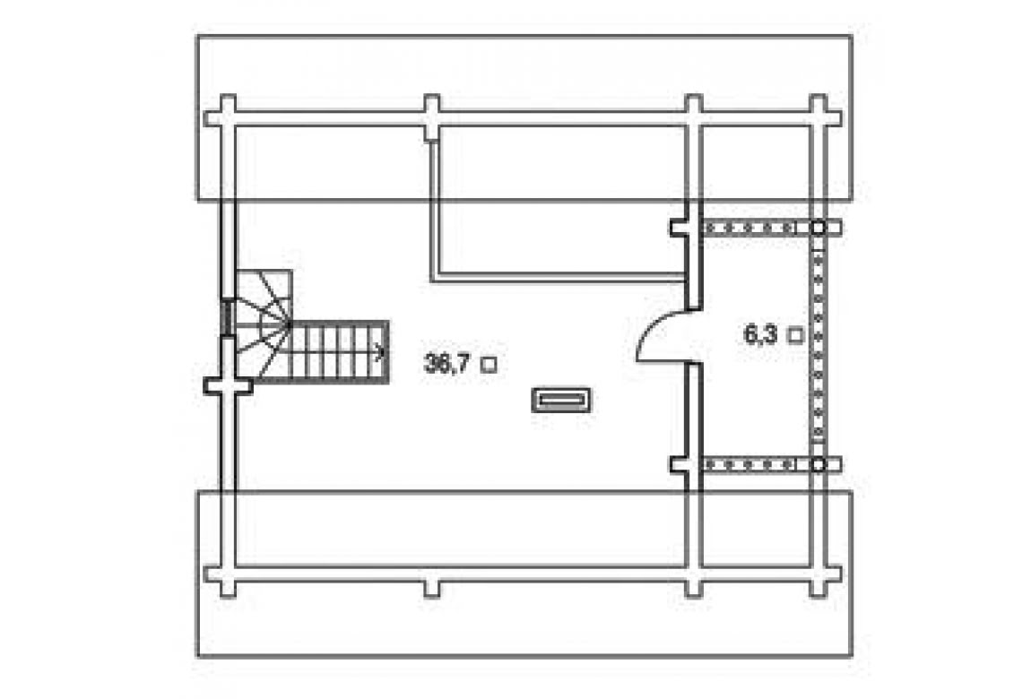 План N2 проекта дома из бревна АСД-1322