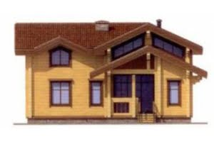 Проект дома из клееного бруса 12-25