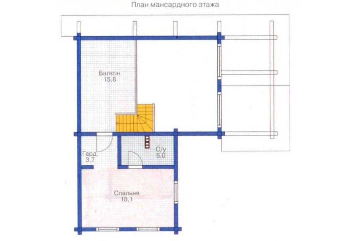 План N2 проекта дома из клееного бруса АСД-1324