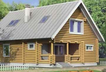 Дом из бревна АСД-1325