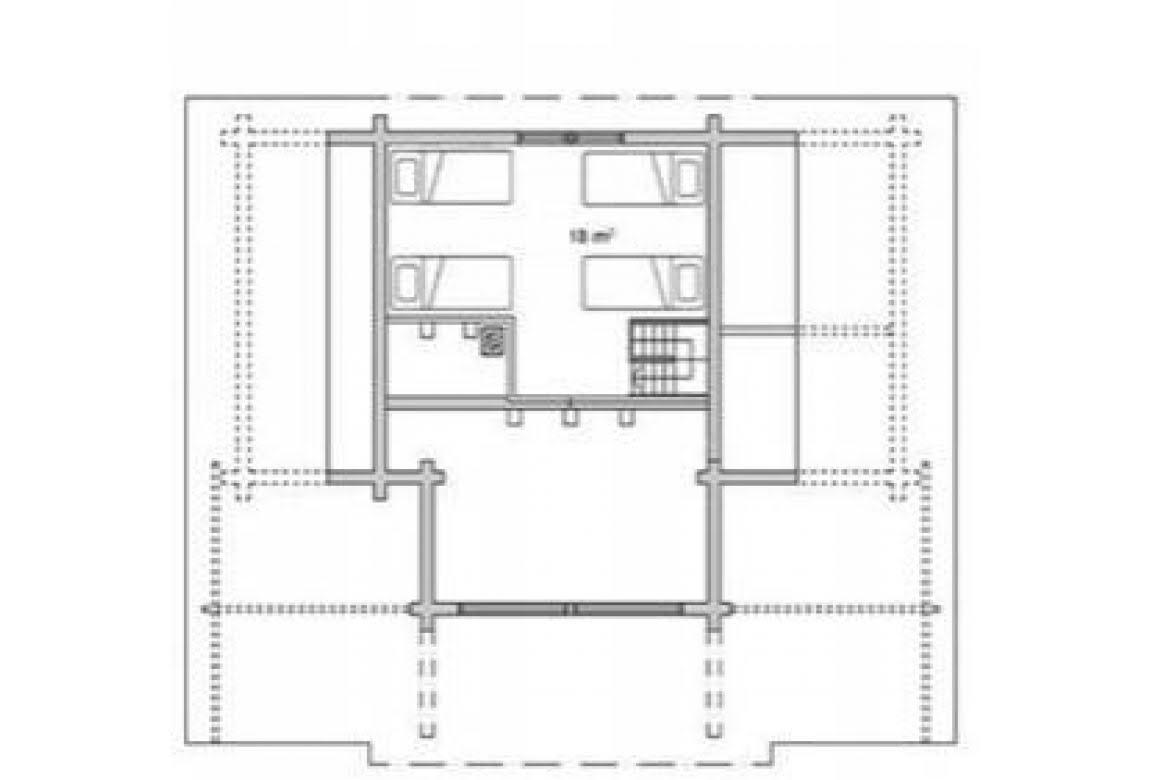 План N2 проекта дома из бревна АСД-1326
