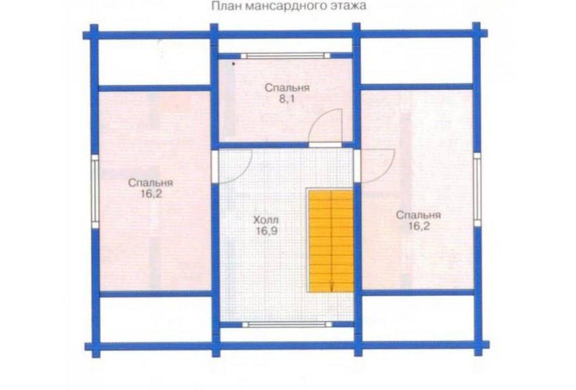 План N2 проекта дома из клееного бруса АСД-1328