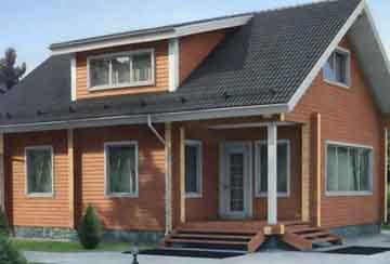 Дом из клееного бруса АСД-1329