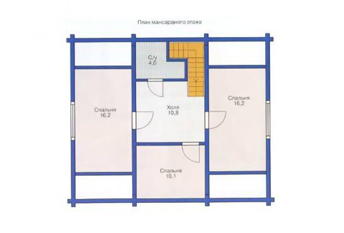 План N2 проекта дома из клееного бруса АСД-1329