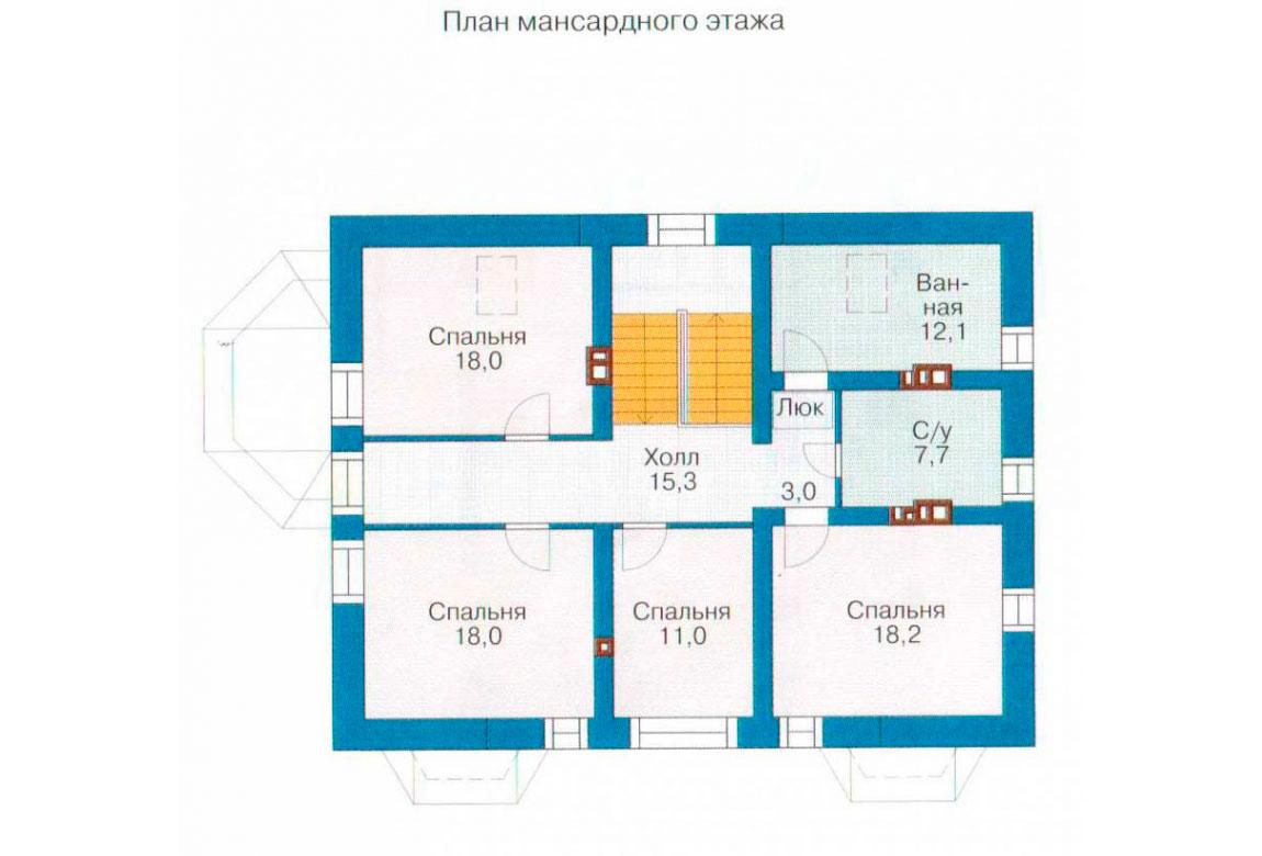 План N2 проекта кирпичного дома АСД-1033