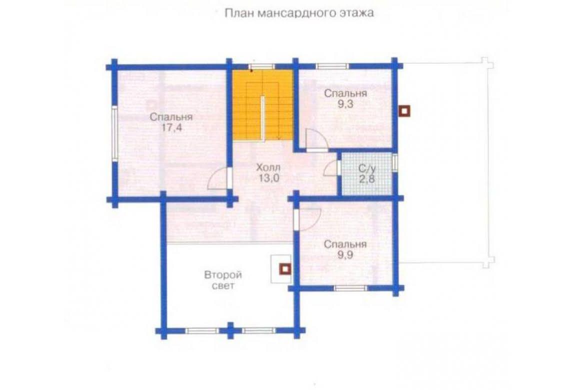 План N2 проекта дома из клееного бруса АСД-1333