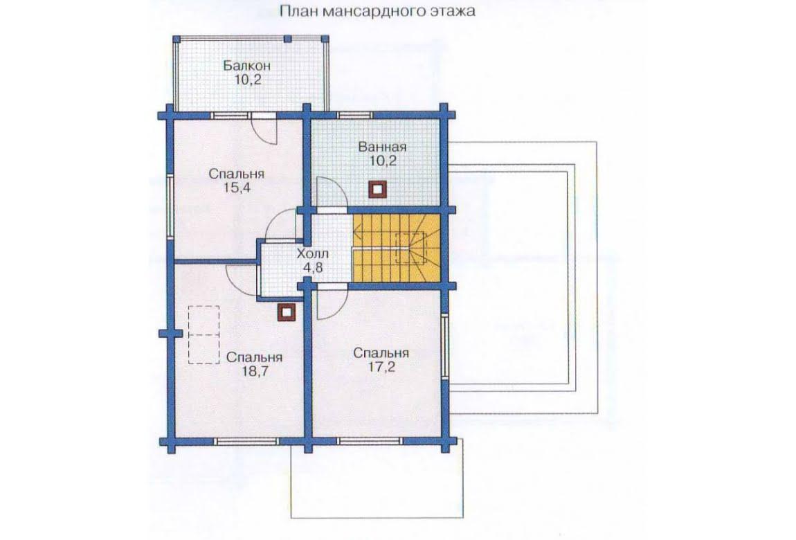 План N2 проекта дома из бревна АСД-1335