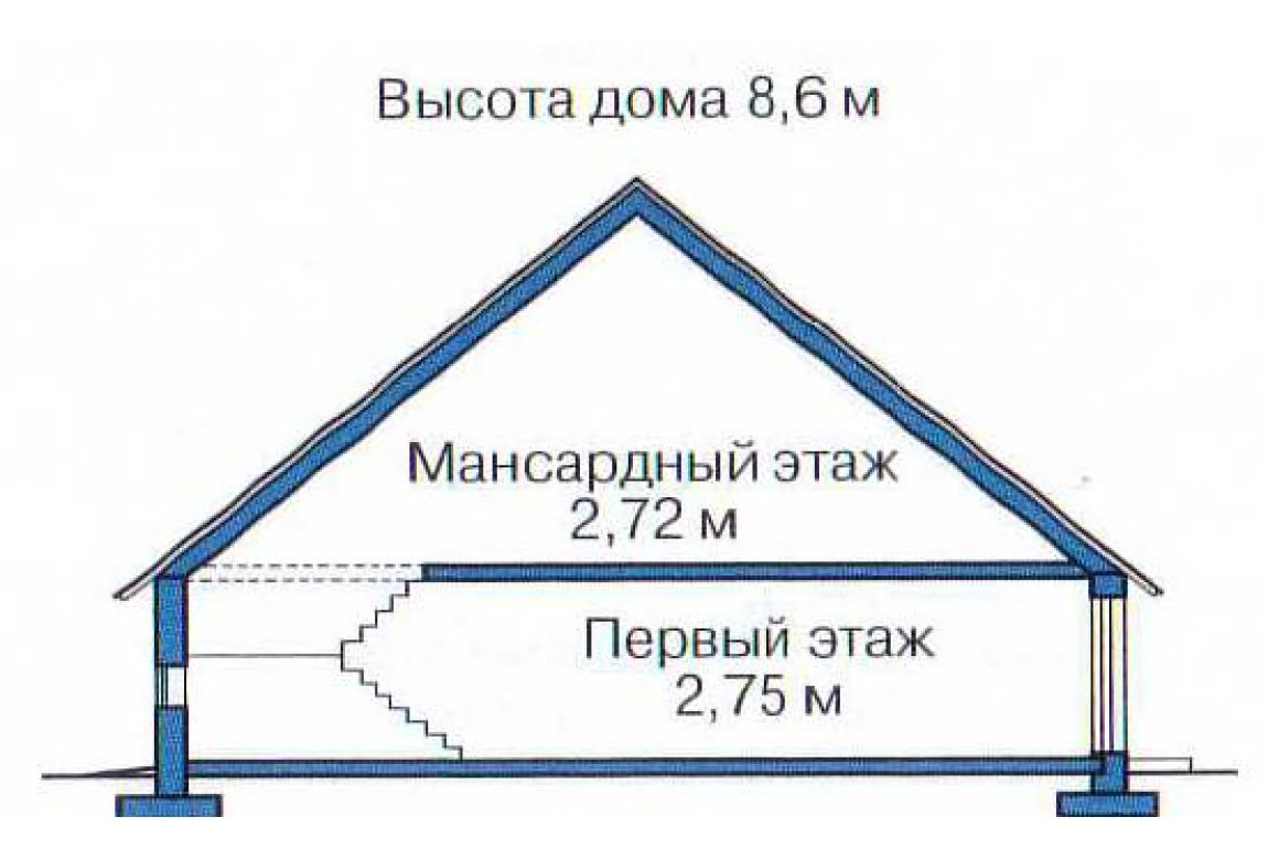 План N3 проекта дома из бревна АСД-1335