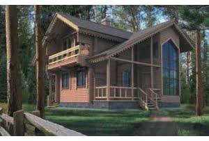 Проект дома из клееного бруса 10-33