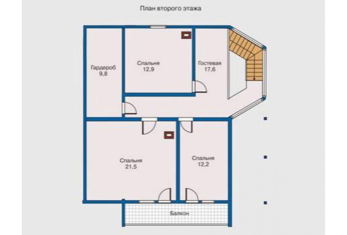 План N2 проекта дома из клееного бруса АСД-1336