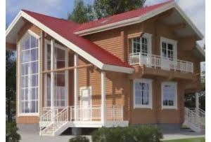 Деревянный дом из клееного бруса по проекту 11-12