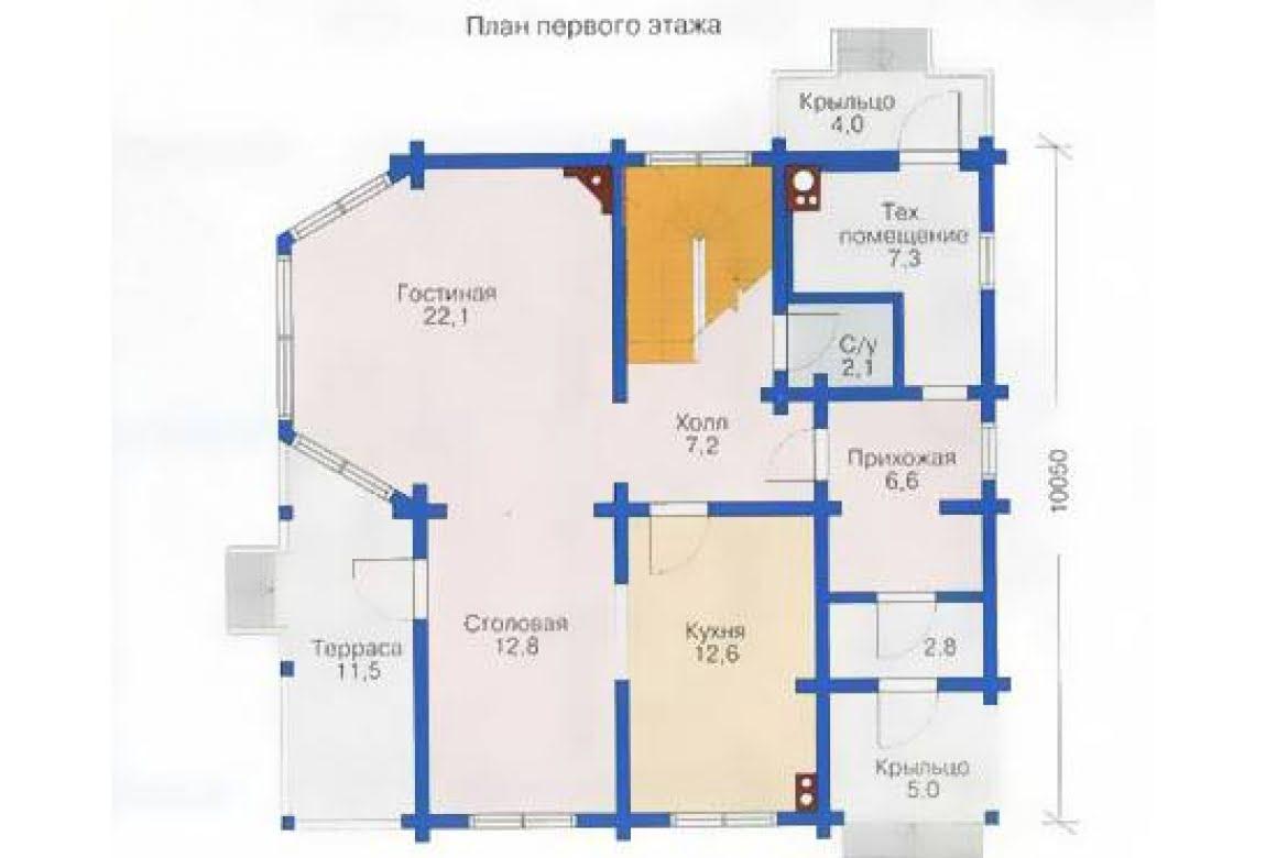 План N1 проекта дома из клееного бруса АСД-1337