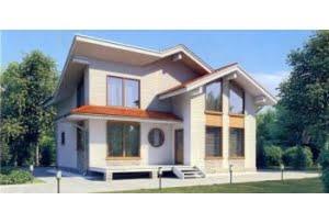 Деревянный дом из клееного бруса по проекту 11-56