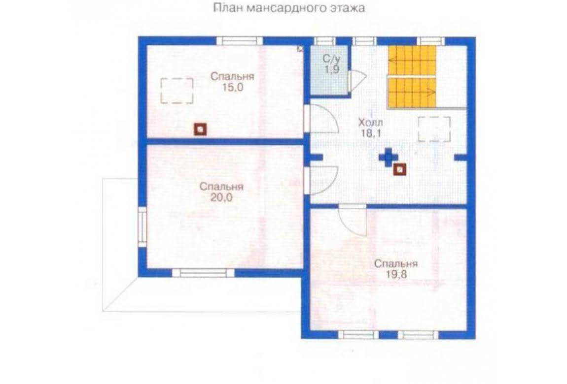 План N2 проекта дома из клееного бруса АСД-1341