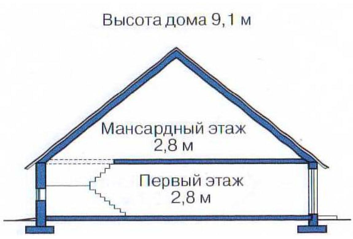План N3 проекта дома из клееного бруса АСД-1345