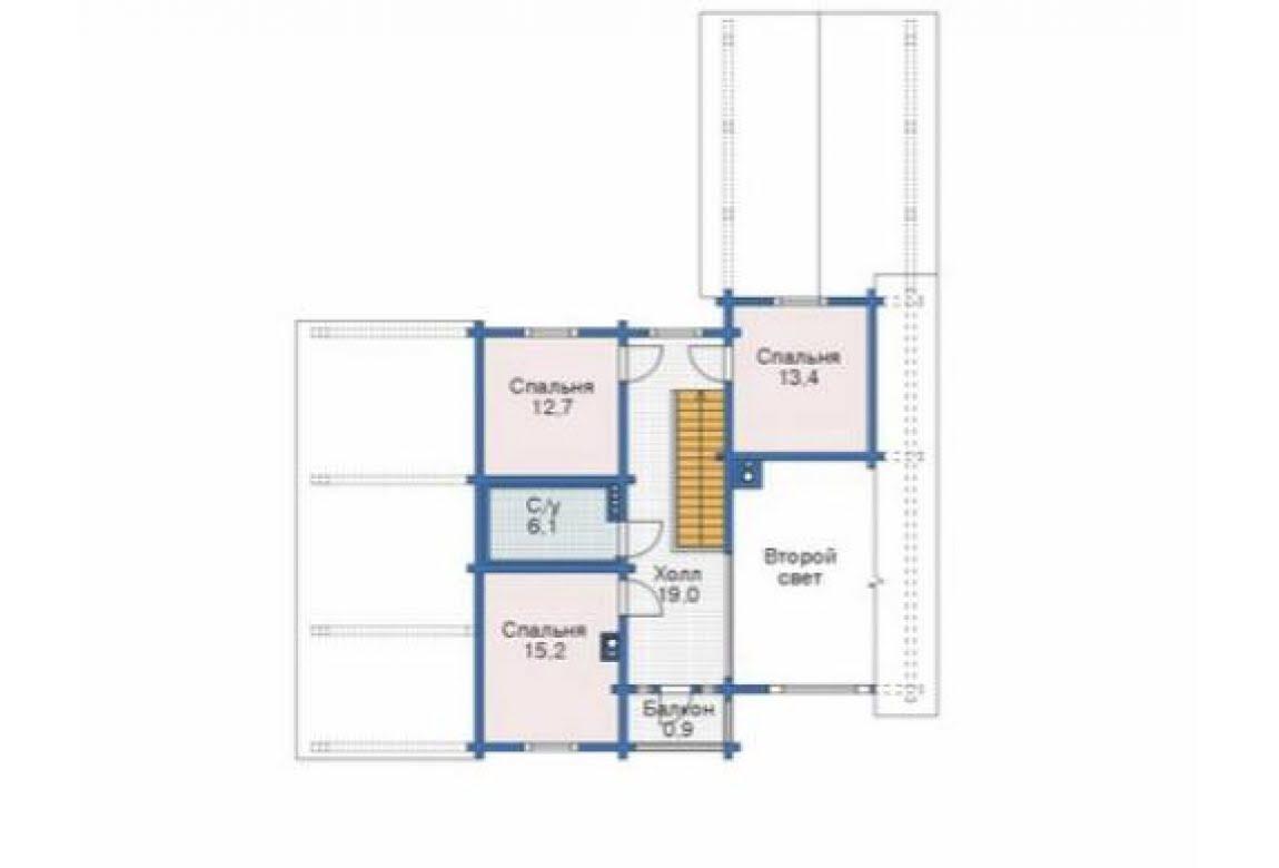 План N2 проекта дома из бревна АСД-1346
