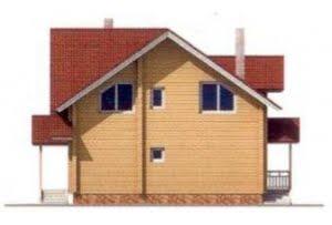 Проект дома из клееного бруса 10-70